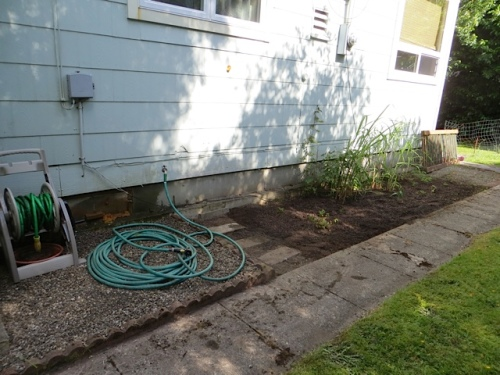 and finished the hose area on the west side of the house.