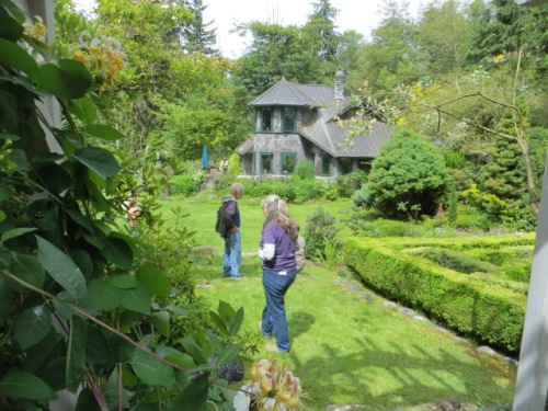 Sheila preceded me; first view of the stunning house, like something from a dream