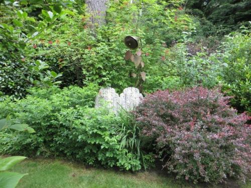 in the enclosed garden