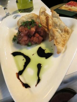 I had an app called Poki Poki, an ahi tuna salad that was delicious.