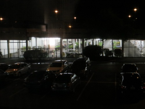 gleaming in the darkness; I planned to go shopping early before the first morning lecture.