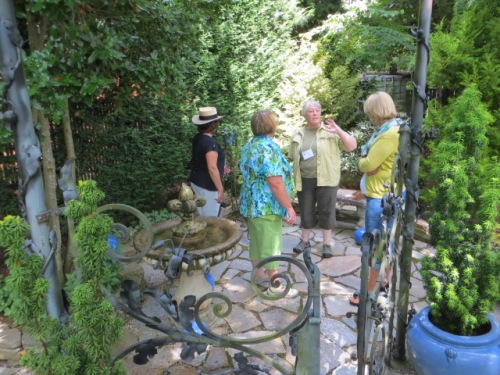 a gaggle of happy garden guests