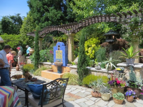 We find it hard to leave this patio and move on to the next garden.