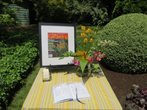 Each garden had been provided with a guest book for tour-goers to sign.