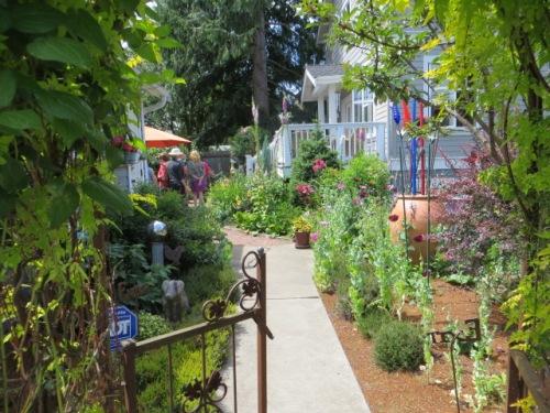 a side entrance to the garden