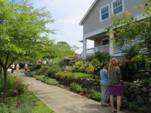 approaching the garden
