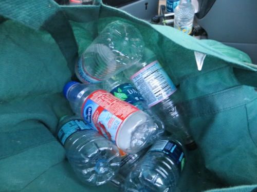and the water bottles Allan kept refilling to water the plants with, as some had been in the van for three days now.