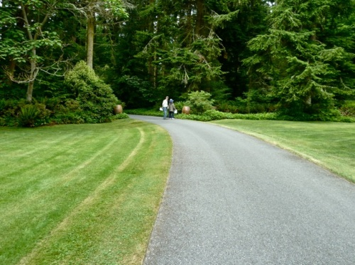 back to the driveway; Allan's photo shows the dwarfing expanse of this landscape