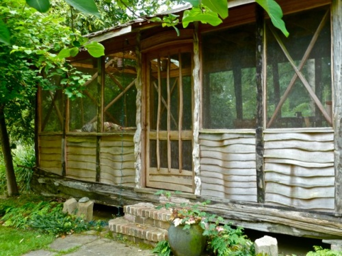 Allan says he read in the Better Homes and Gardens article that Cultus Bay also offers bed and breakfast!  Perhaps in this screened outdoor room?
