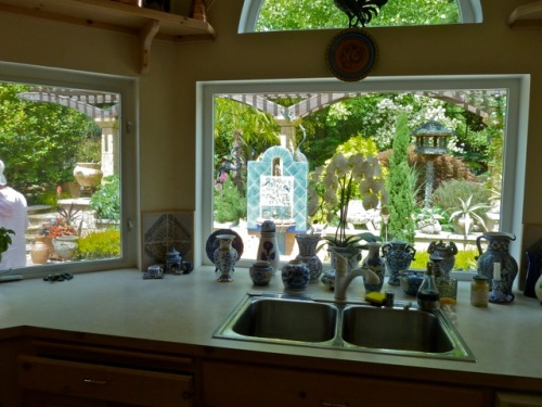 view from a kitchen sink pop-out