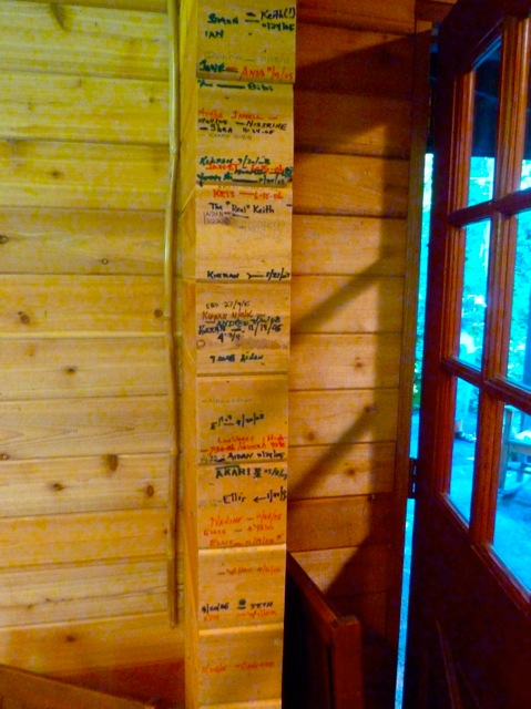 Allan's photo of a growth chart on the door frame.