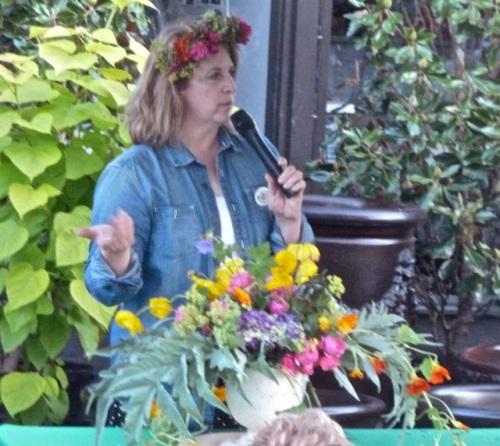 Debra Prinzing's flower arrangement