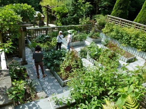 a few feet further overlooking the vegetable garden