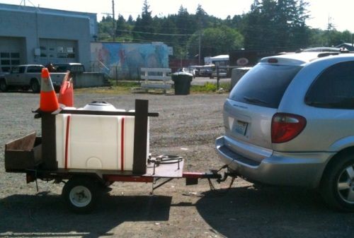 dropping the truck off in the city works yard