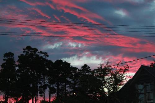 sunset on Lake Street
