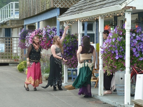 Don Nisbett's Gallery had Beach Belly Dancers from the Painted Lady Lavender Farm.