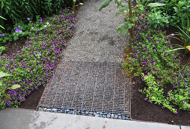 stepping into the side garden