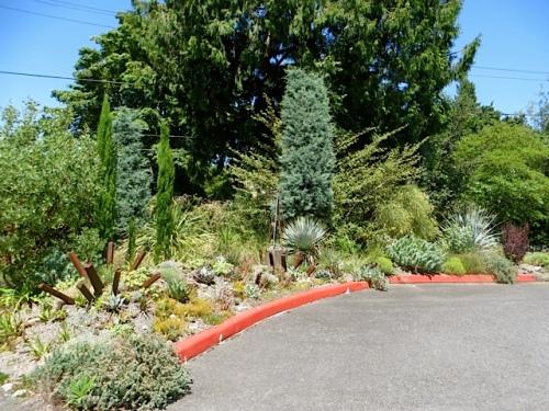 parking lot curbside gravel garden