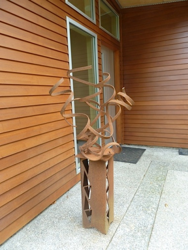 sculpture by the front door
