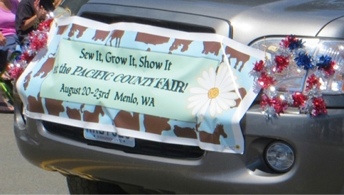 This banner brought memories of attending last year's Pacific County Fair.
