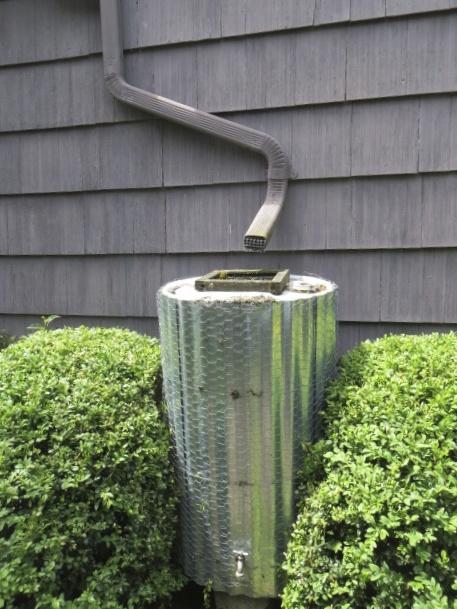 an attractive rain barrel