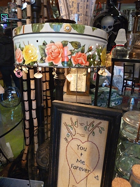 Heather Ramsay, artist, makes many creations, including lamps made of tins.