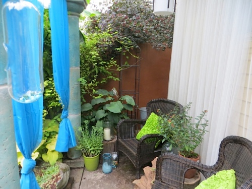 the curtained nook from the deck