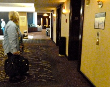 leaving the Bellevue Hilton