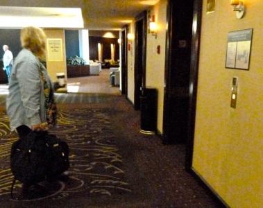 leaving the Bellevue Hilton