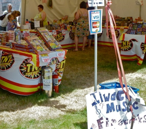 Allan's photo:  Even for good causes, I wish personal fireworks were not sold here.