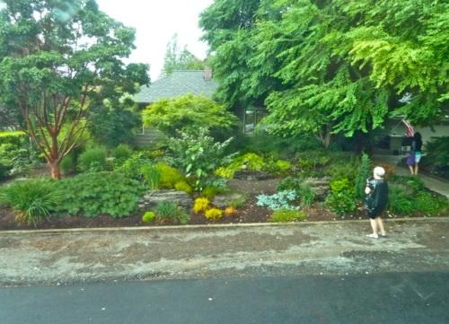arriving at Floramagoria; Allan's photo