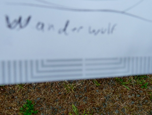 He took this note of the name.  (??)