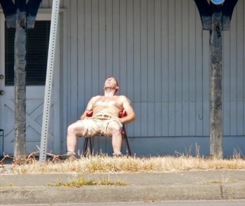 He saw this man while driving through Long Beach.