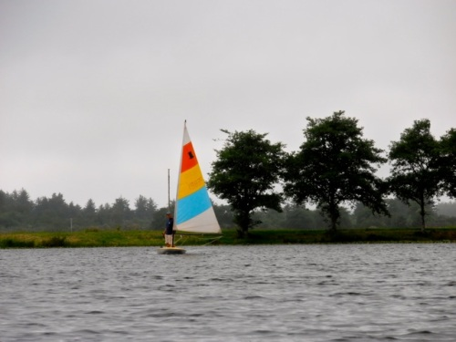 Our friend Chris was also out sailing around.