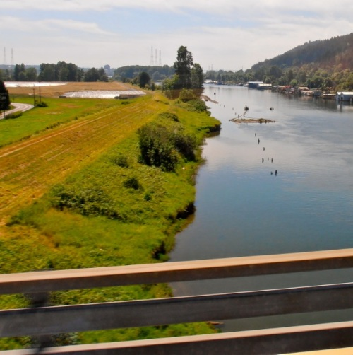 Allan's photo: crossing the bridge to Sauvie Island