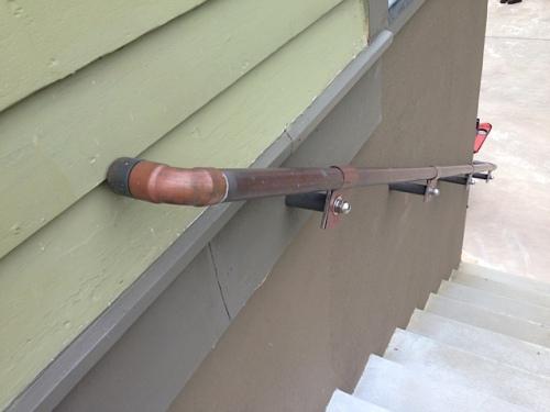 unique copper handrail
