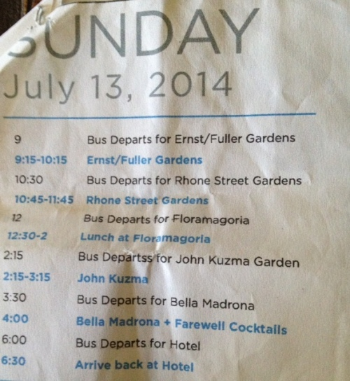 Sunday's well-worn itinerary