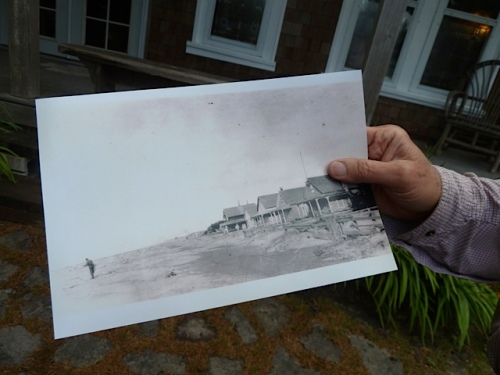 Mr. Thorton greeted us with a photo of how the beach used to be in the front yard.
