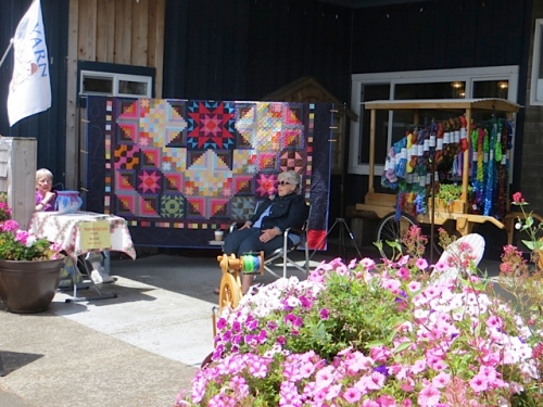 flowers and the Peninsula Quilt Guild