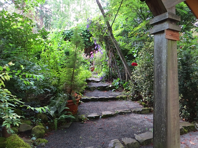 or the stairs to the lawn