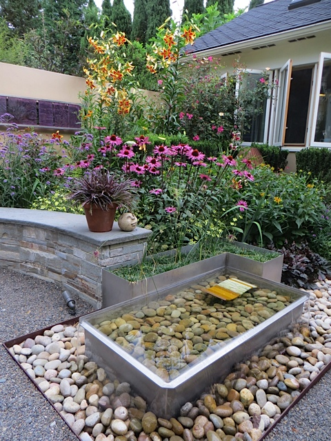 and a water feature