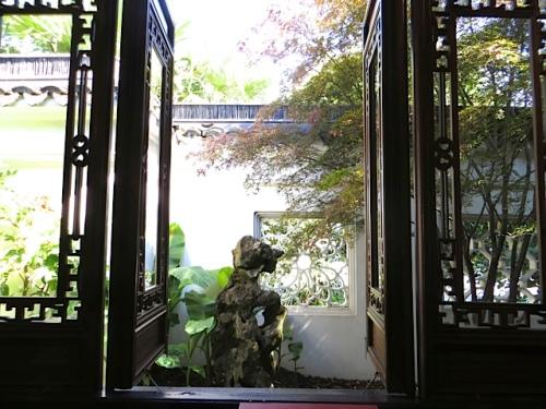 window into a courtyard