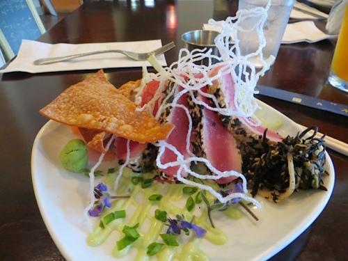 Chef Jason Lancaster's ahi tuna...spectacular