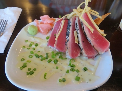 and Chef Jason's delectable ahi tuna; each week it is a different presentation.