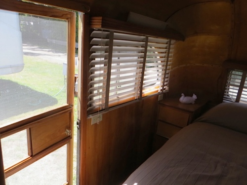 It's a two door trailer with an exterior door in the bedroom.