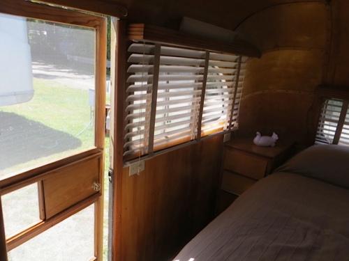 It's a two door trailer with an exterior door in the bedroom.