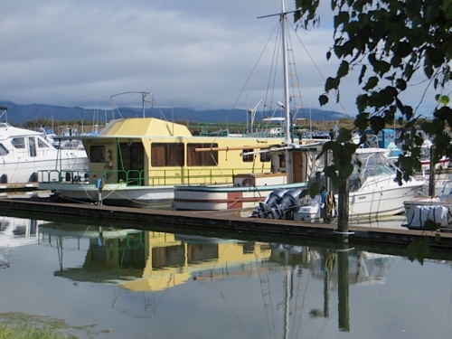 and an interesting boat house in the marina
