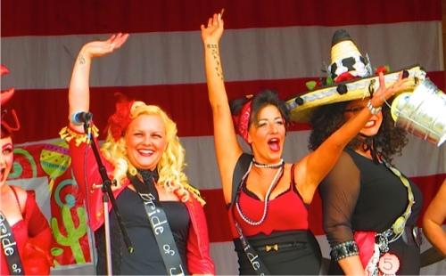 Three of the contestants