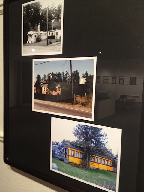photos of train cars turned into dwellings