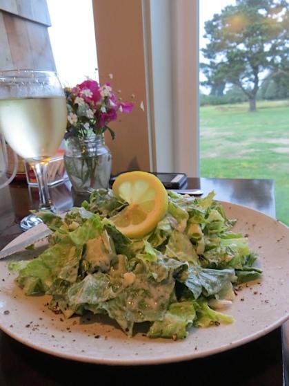 Steve and John each had caesar salads and fish tacos.